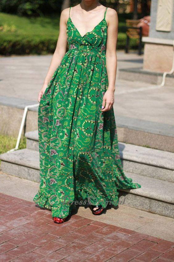 pendenti_verdi_rosa Lunghi pendenti rosa e verde