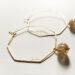 orecchini ottagono oro e vetro