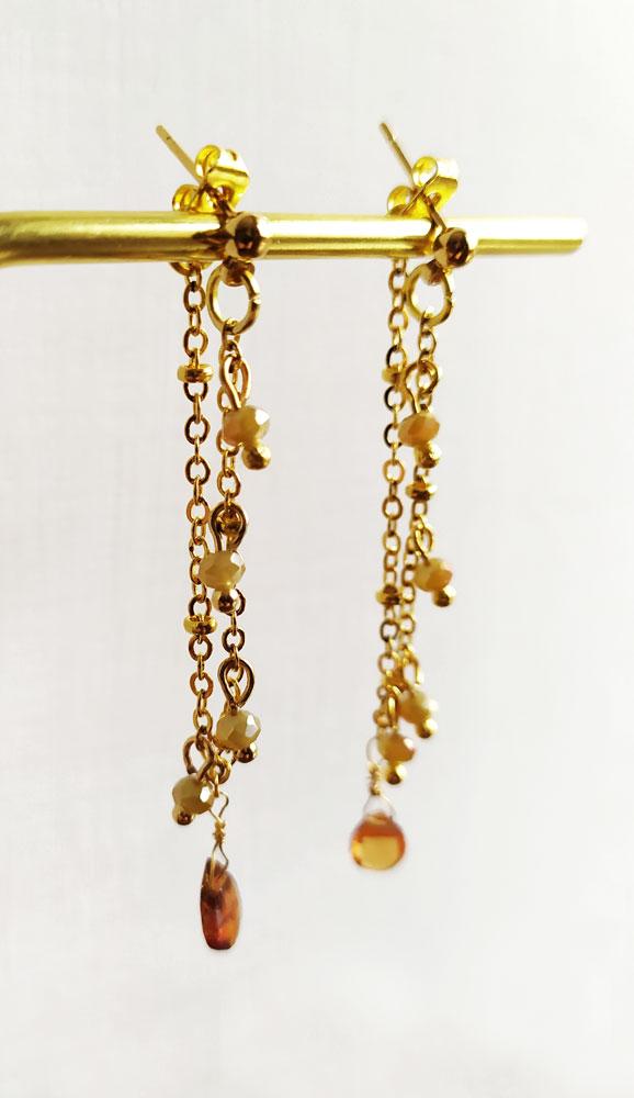 1615815733378 Orecchini a catenella con pendente zaffiro