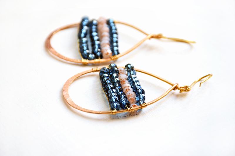 orecchini cristalli blue mare
