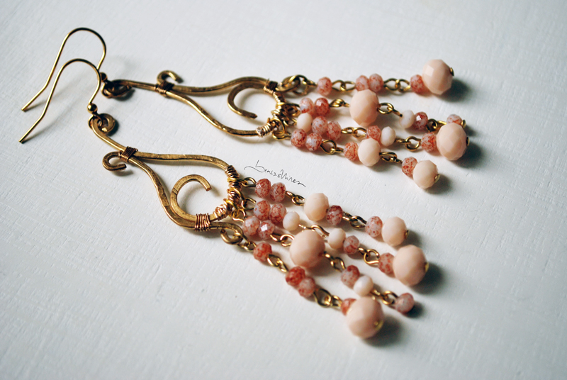 DSC_1436 Lunghi orecchini rosa antico