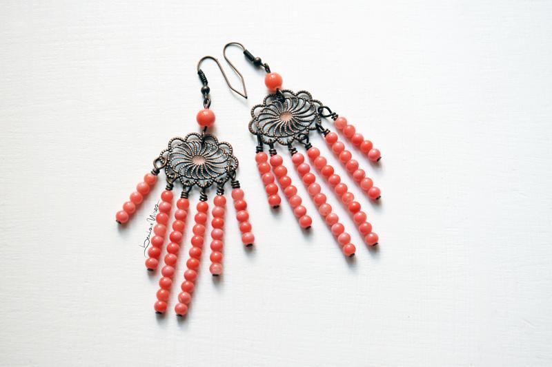 DSC_1438 FIligrana e beads rosa corallo