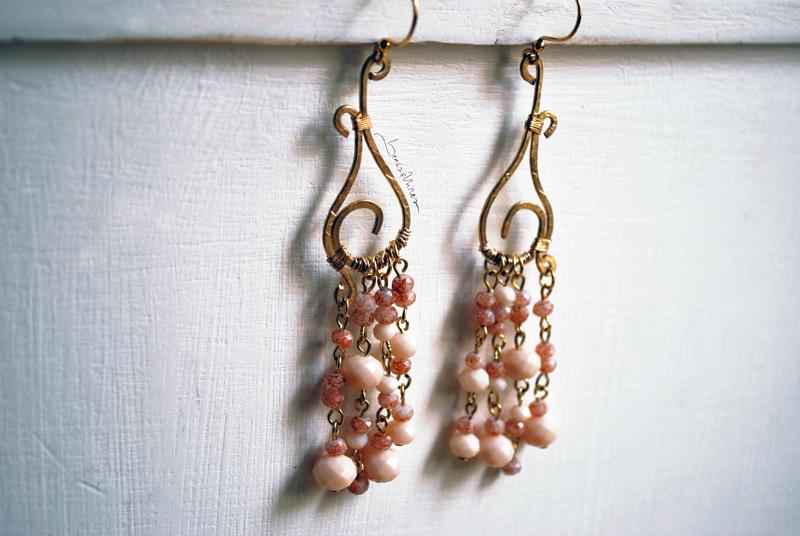 DSC_1443-1 Lunghi orecchini rosa antico