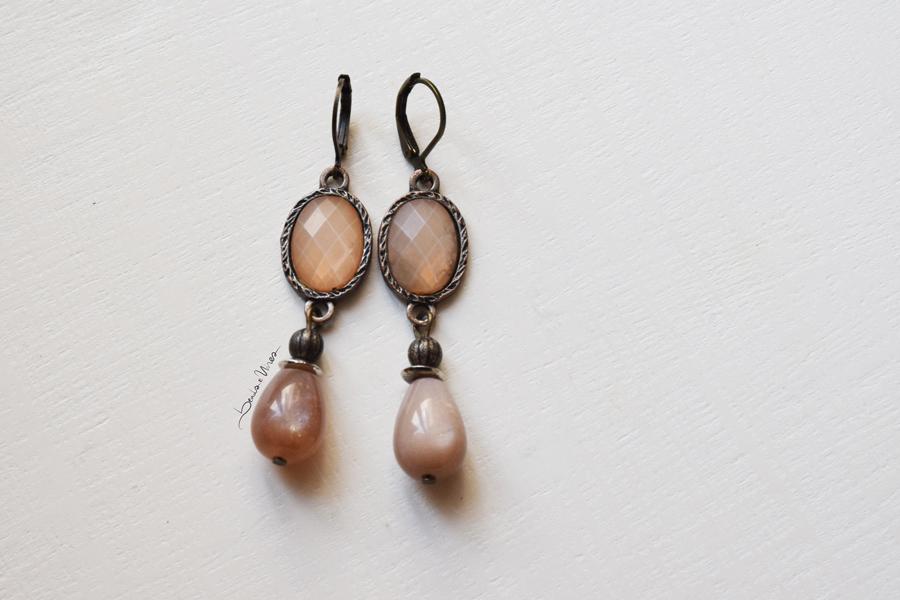 DSC_2070 Romantici orecchini rosa antico
