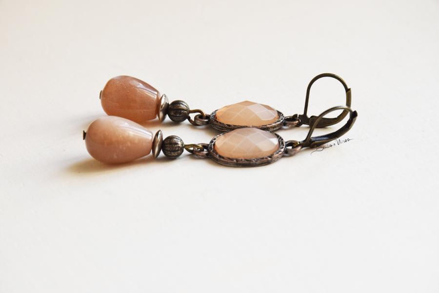 DSC_2074 Romantici orecchini rosa antico