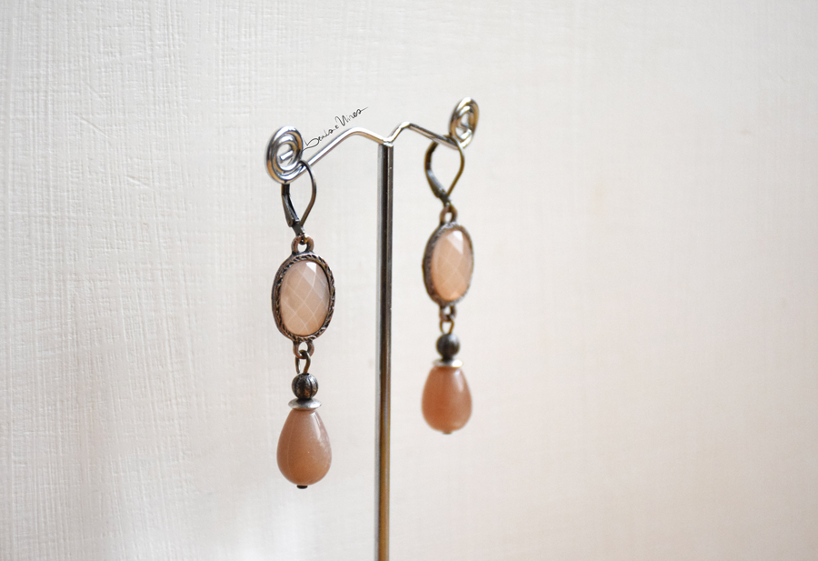 DSC_2173 Romantici orecchini rosa antico