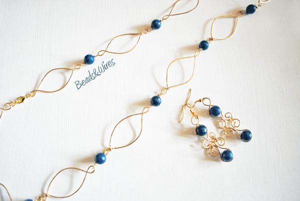 DSC_8983 Collana e orecchini blu