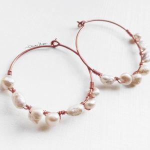 orecchini_rame e_perle_beads and wires