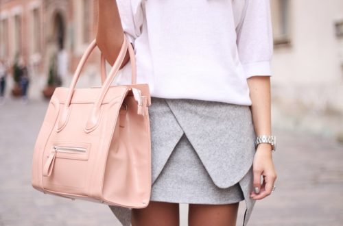 Collana rosa con vetri